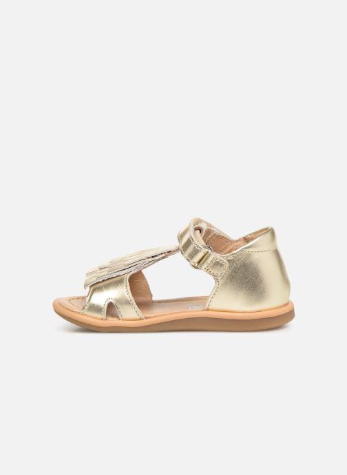 Sandali e scarpe aperte Shoo Pom Tity Fringe Oro e bronzo immagine frontale