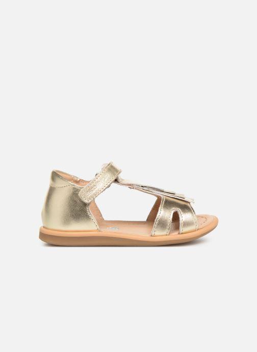 Sandales et nu-pieds Shoo Pom Tity Fringe Or et bronze vue derrière