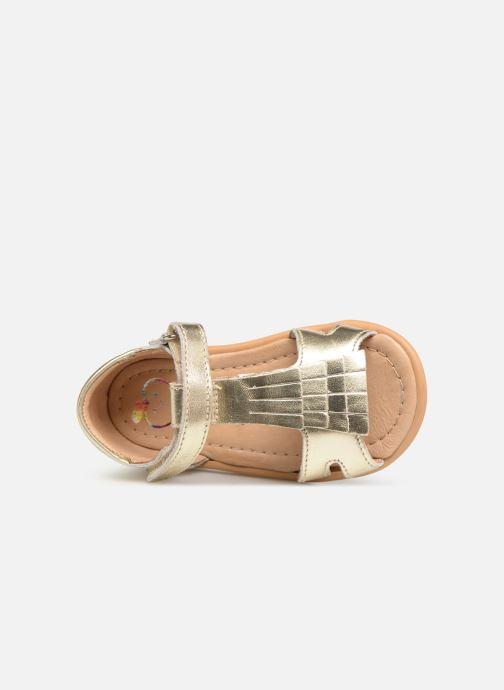 Sandali e scarpe aperte Shoo Pom Tity Fringe Oro e bronzo immagine sinistra