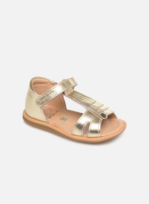 Sandales et nu-pieds Shoo Pom Tity Fringe Or et bronze vue détail/paire