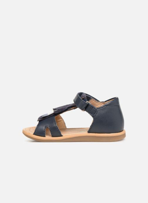 Sandales et nu-pieds Shoo Pom Tity Fringe Bleu vue face