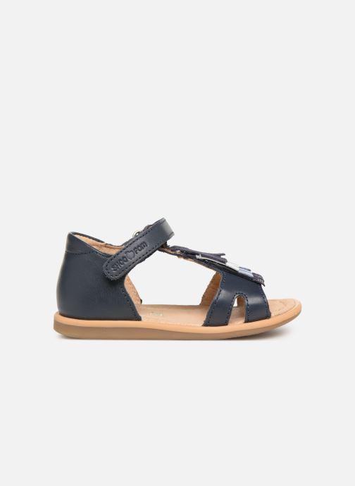 Sandales et nu-pieds Shoo Pom Tity Fringe Bleu vue derrière