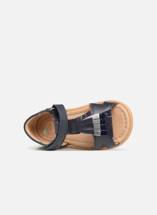 Sandales et nu-pieds Shoo Pom Tity Fringe Bleu vue gauche