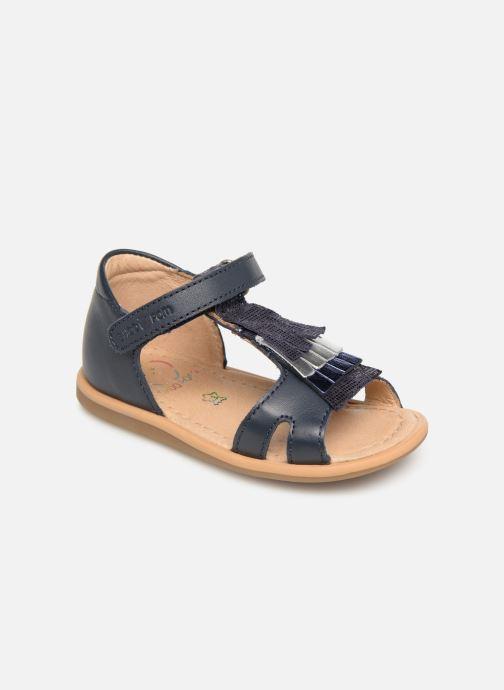 Sandales et nu-pieds Shoo Pom Tity Fringe Bleu vue détail/paire