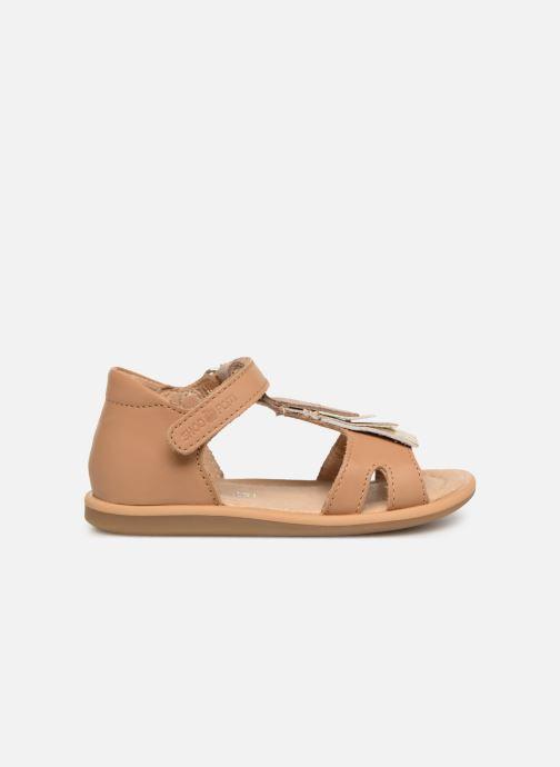 Sandales et nu-pieds Shoo Pom Tity Fringe Marron vue derrière