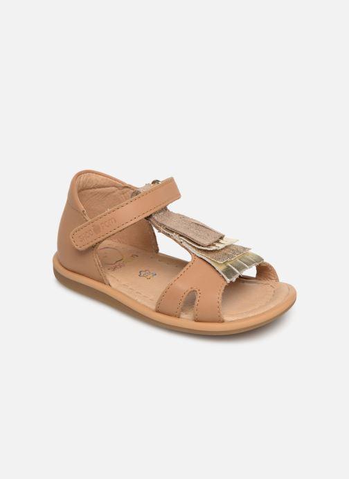 Sandaler Shoo Pom Tity Fringe Brun detaljeret billede af skoene