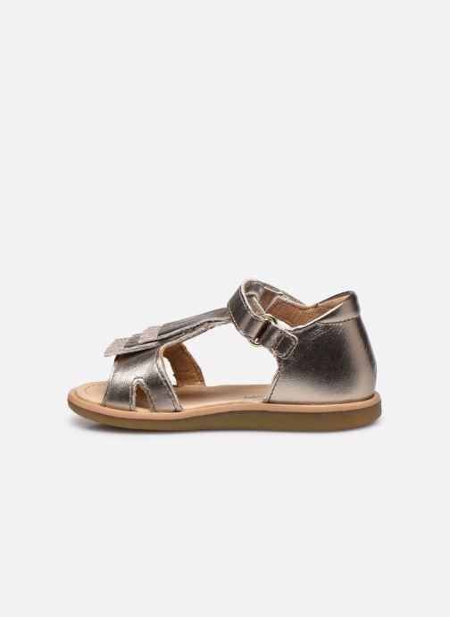 Sandales et nu-pieds Shoo Pom Tity Fringe Or et bronze vue face