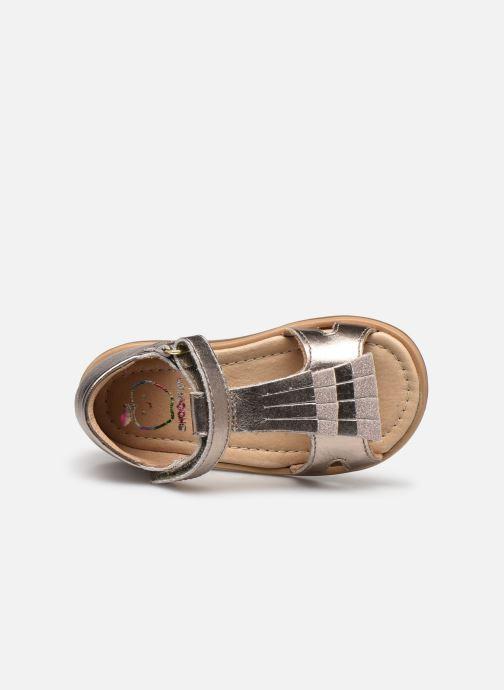 Sandales et nu-pieds Shoo Pom Tity Fringe Or et bronze vue gauche
