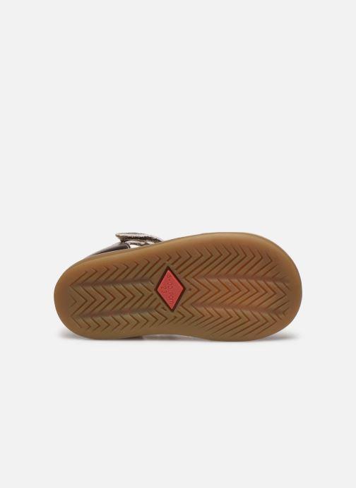 Sandales et nu-pieds Shoo Pom Tity Fringe Or et bronze vue haut