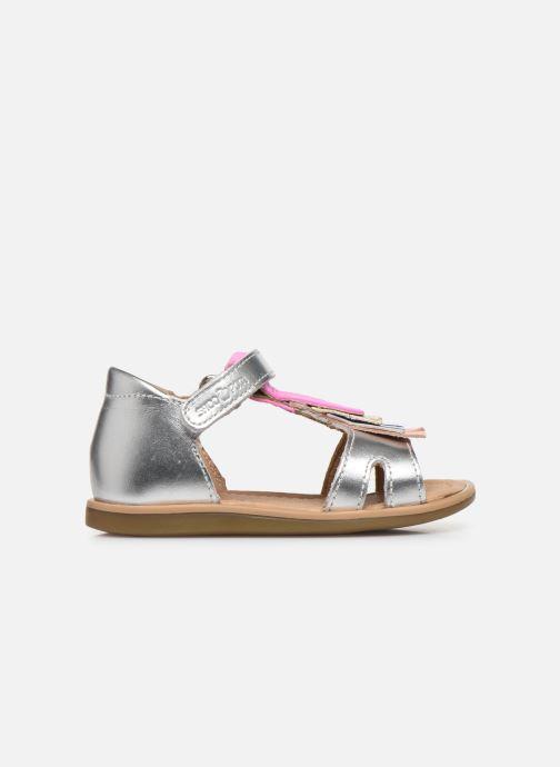 Sandales et nu-pieds Shoo Pom Tity Fringe Argent vue derrière