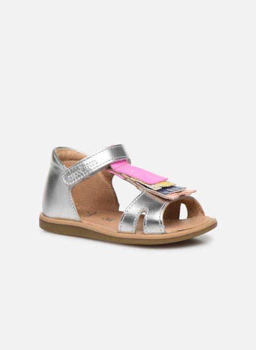 Sandales et nu-pieds Shoo Pom Tity Fringe Argent vue détail/paire