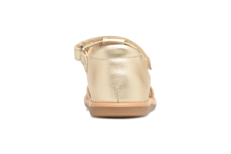 Sandalias Shoo Pom Tity Fringe Oro y bronce vista lateral derecha