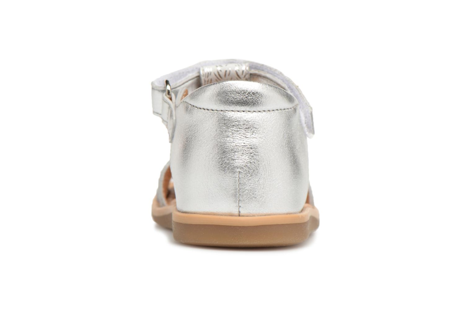 Sandals Shoo Pom Tity Fringe Silver view from the right