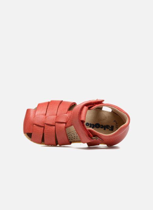 Sandales et nu-pieds Naturino Gabriele 1405 Rouge vue gauche
