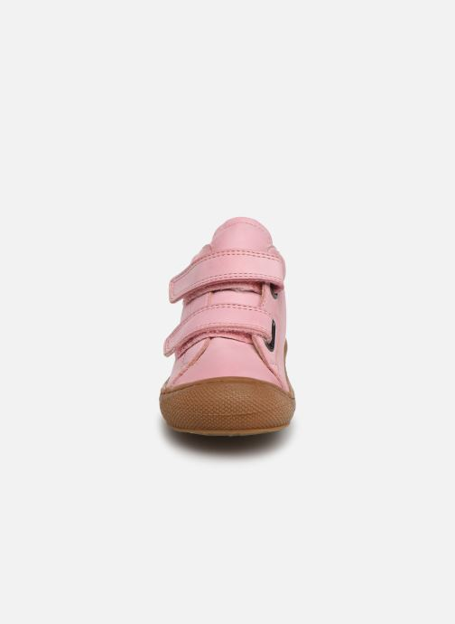 Sneaker Naturino Cocoon VL rosa schuhe getragen