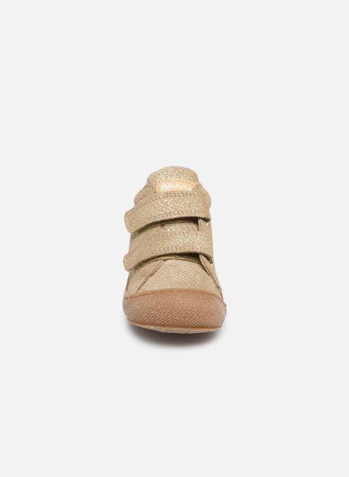 Baskets Naturino Cocoon VL Or et bronze vue portées chaussures