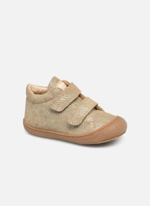 Baskets Naturino Cocoon VL Or et bronze vue détail/paire