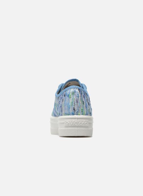 Sneakers Victoria Basket Puntos Brillo Plataf Kids Azzurro immagine destra