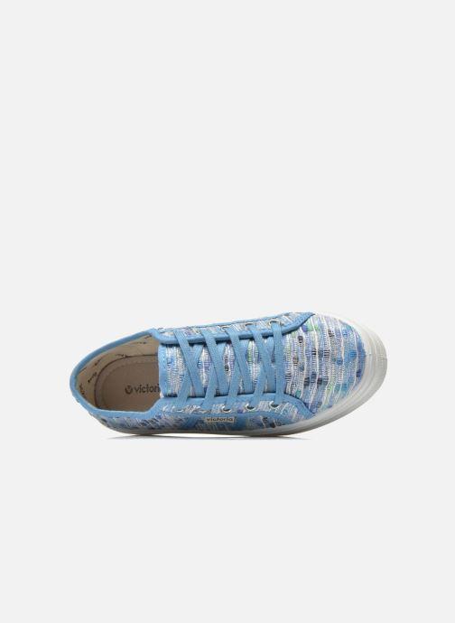 Sneakers Victoria Basket Puntos Brillo Plataf Kids Azzurro immagine sinistra