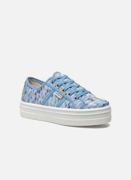 Sneakers Victoria Basket Puntos Brillo Plataf Kids Azzurro vedi dettaglio/paio