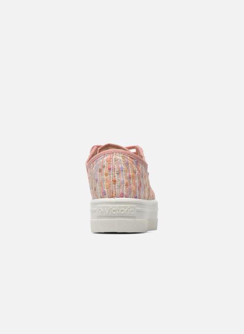 Sneakers Victoria Basket Puntos Brillo Plataf Kids Roze rechts