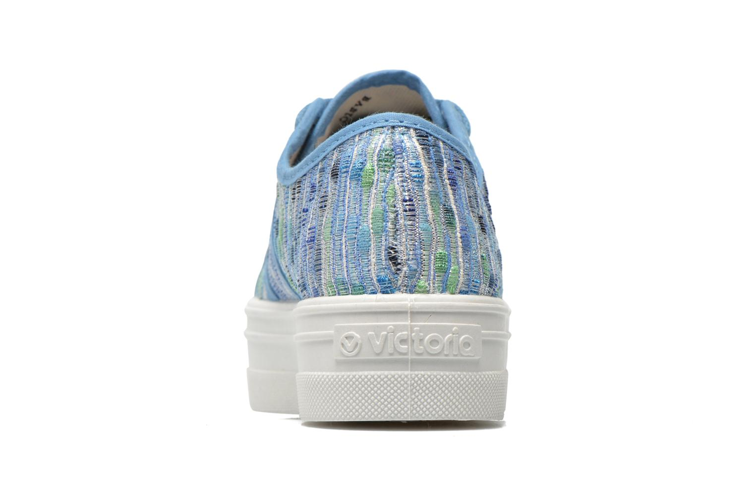 Trainers Victoria Basket Puntos Brillo Plataf Kids Blue view from the right