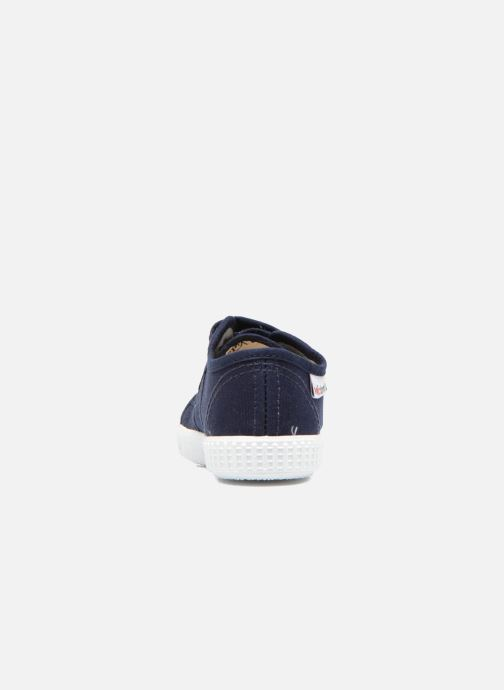 Sneaker Victoria Basket lona Dos Velcos blau ansicht von rechts