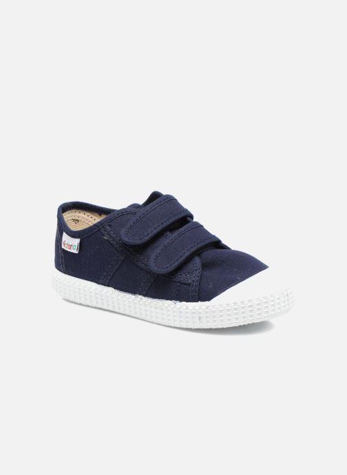 Sneakers Victoria Basket lona Dos Velcos Blauw detail