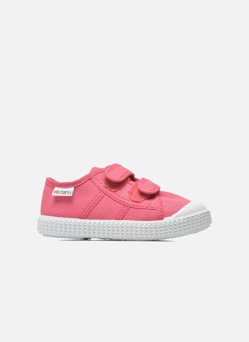 Sneakers Victoria Basket lona Dos Velcos Roze achterkant