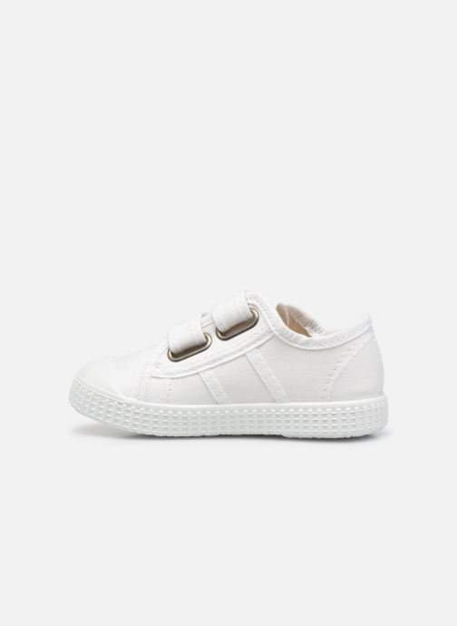 Sneakers Victoria Basket lona Dos Velcos Bianco immagine frontale