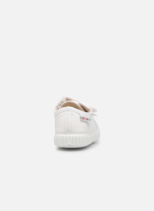 Sneakers Victoria Basket lona Dos Velcos Bianco immagine destra