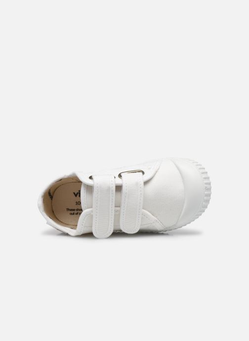Sneakers Victoria Basket lona Dos Velcos Bianco immagine sinistra