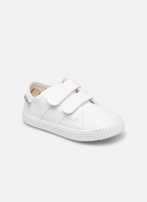 Sneakers Victoria Basket lona Dos Velcos Bianco vedi dettaglio/paio