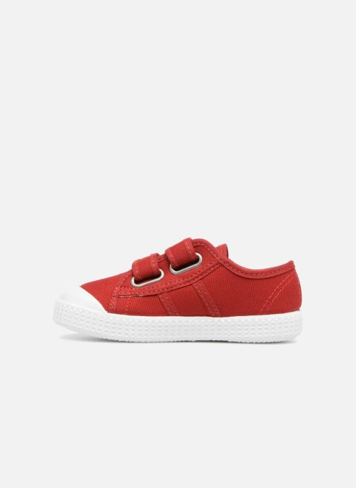 Trainers Victoria Basket lona Dos Velcos Red front view