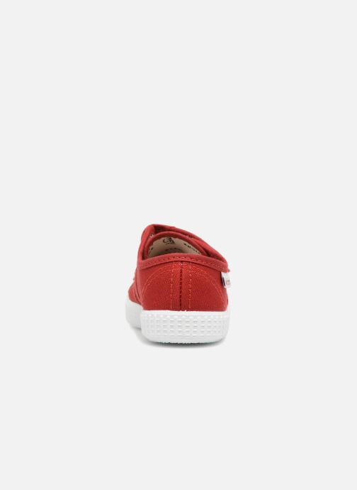 Trainers Victoria Basket lona Dos Velcos Red view from the right