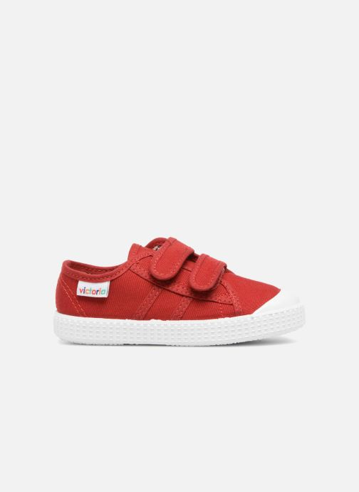 Trainers Victoria Basket lona Dos Velcos Red back view