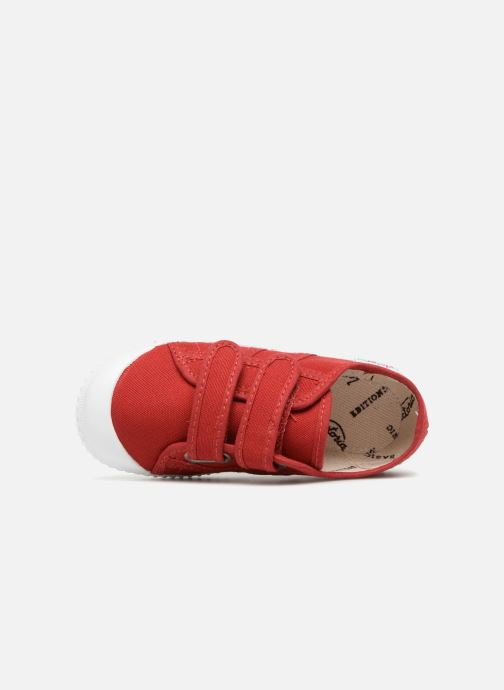 Sneakers Victoria Basket lona Dos Velcos Rosso immagine sinistra