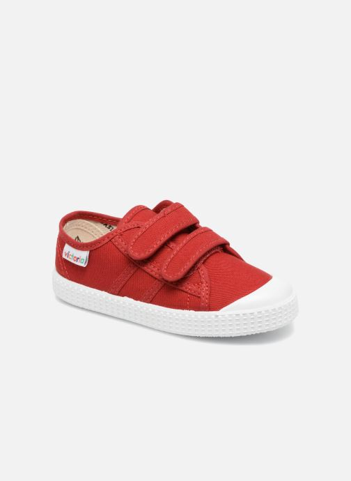 Trainers Victoria Basket lona Dos Velcos Red detailed view/ Pair view