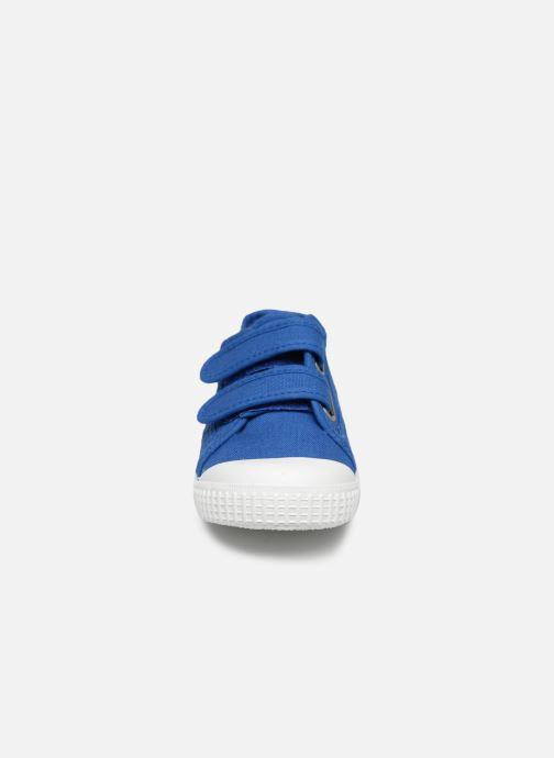 Sneaker Victoria Basket lona Dos Velcos blau schuhe getragen