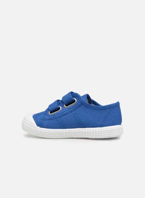 Sneakers Victoria Basket lona Dos Velcos Blauw voorkant