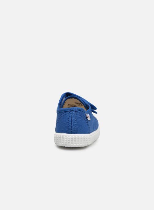 Sneakers Victoria Basket lona Dos Velcos Blauw rechts