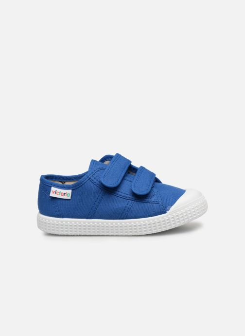 Sneakers Victoria Basket lona Dos Velcos Blauw achterkant