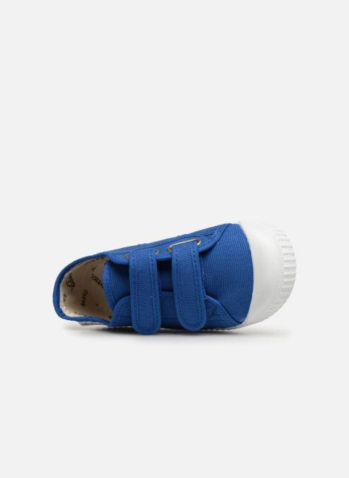 Sneaker Victoria Basket lona Dos Velcos blau ansicht von links