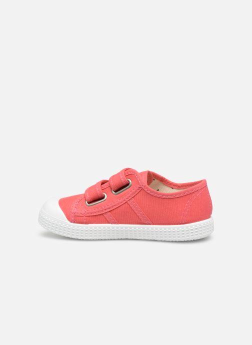 Sneaker Victoria Basket lona Dos Velcos rosa ansicht von vorne