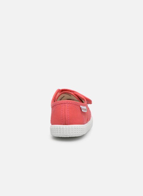 Sneaker Victoria Basket lona Dos Velcos rosa ansicht von rechts