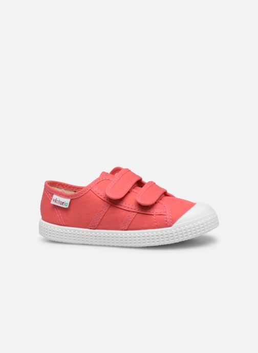 Trainers Victoria Basket lona Dos Velcos Pink back view