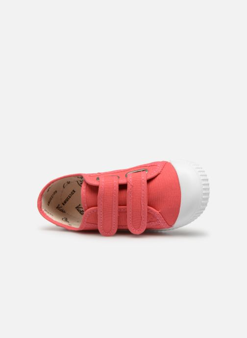 Trainers Victoria Basket lona Dos Velcos Pink view from the left