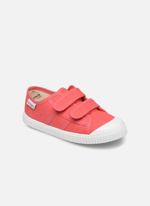 Sneakers Victoria Basket lona Dos Velcos Roze detail