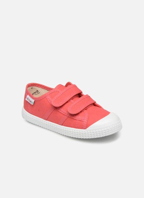 Sneakers Victoria Basket lona Dos Velcos Roze detail
