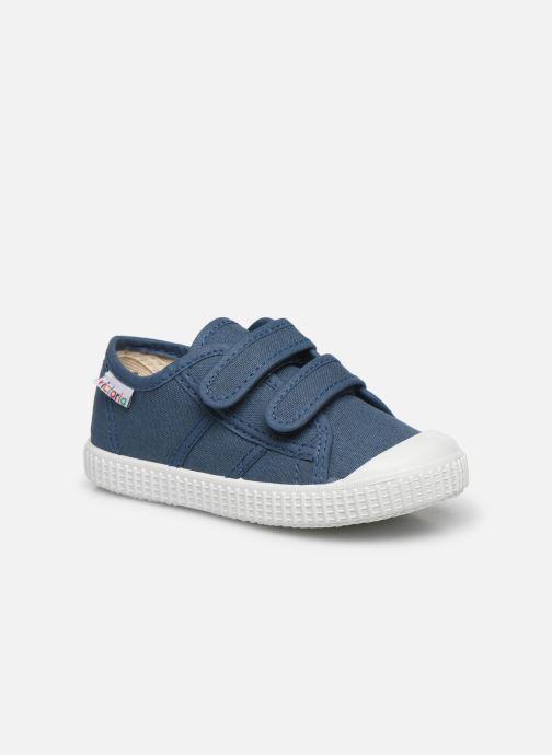 Sneakers Victoria Basket lona Dos Velcos Blå detaljeret billede af skoene